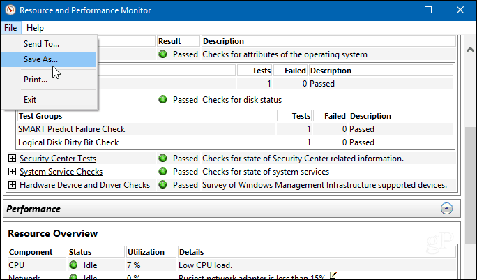 How to Generate a Windows 10 System Diagnostics Report