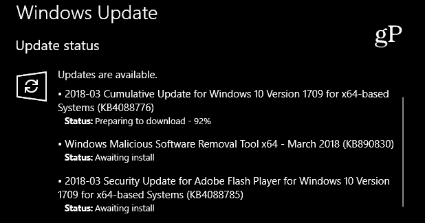 Cumulative Update 1709 KB4088776