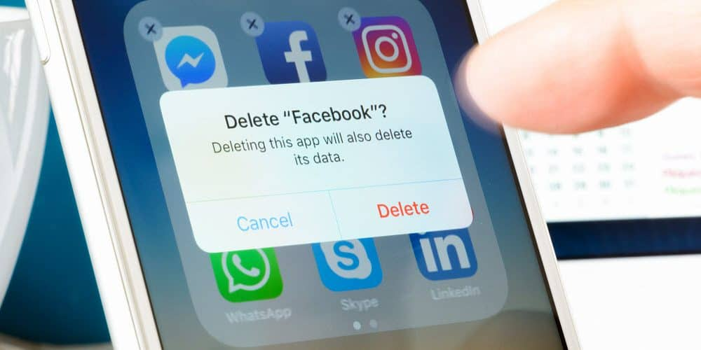 Facebook löschen link