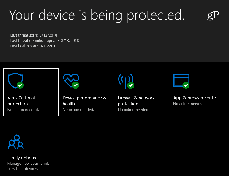 Windows Defender Security Windows 10