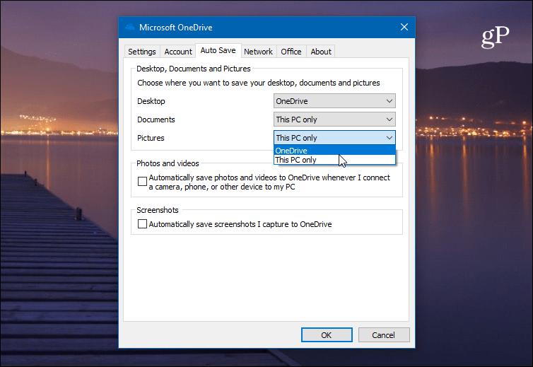 AutoSave OneDrive Tab
