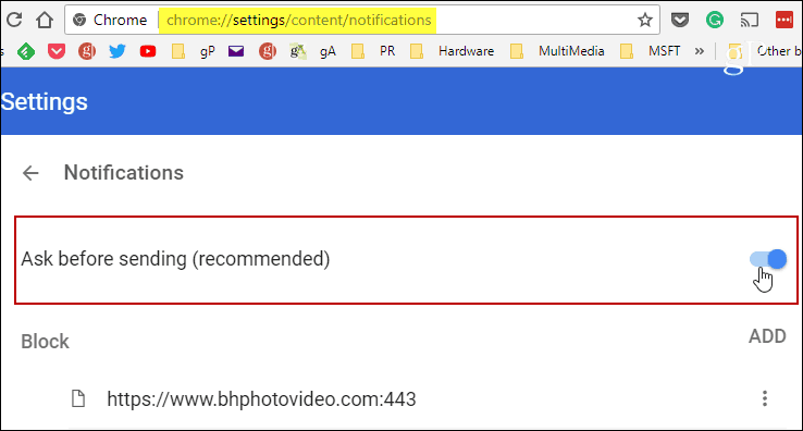 Automatically Disable Website Notification Requests in Chrome