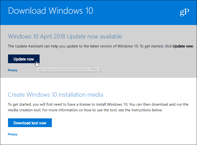How to manually download and install windows 10 1803 april 2018 update download windows 10 april 2018 update ccuart Image collections