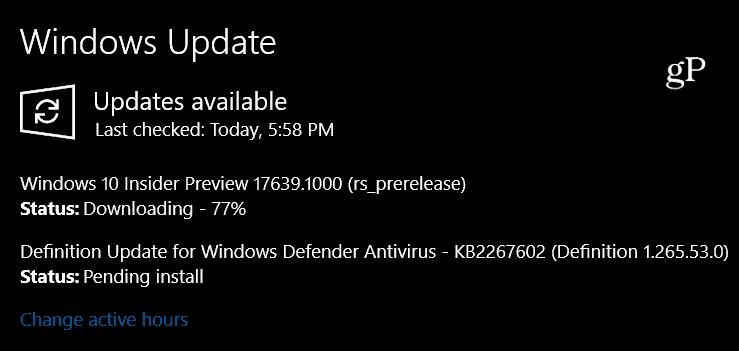 Windows 10 Redstone 5 Build 17639