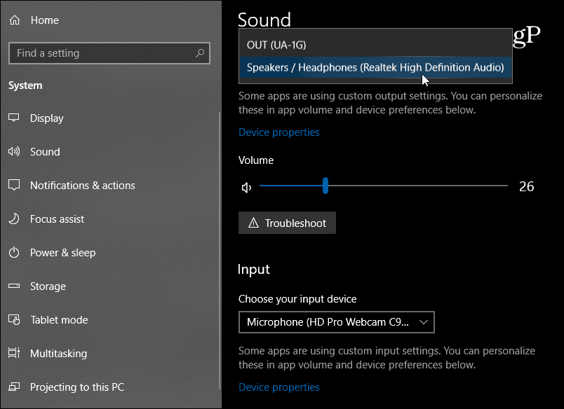 New Sound Settings Windows 10
