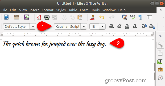 Using new font in LibreOffice Writer