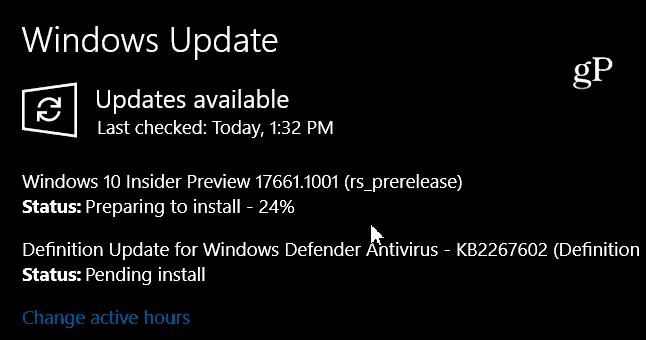 Windows 10 Redstone 5 Preview Build 17661