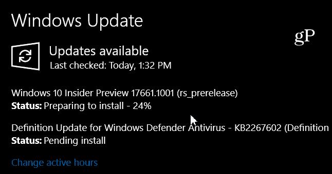 Windows 10 Redstone 5 Preview Build 17661