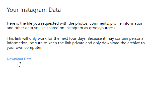 How to Download a Copy of Your Instagram Data