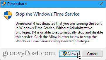 Stop the Windows Time Service