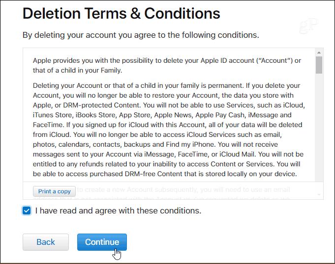 how to delete my apple id