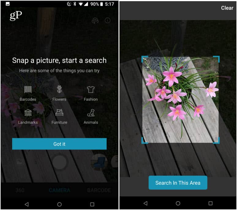 Bing Visual Search Android