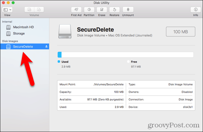 New disk image in Disk Utility