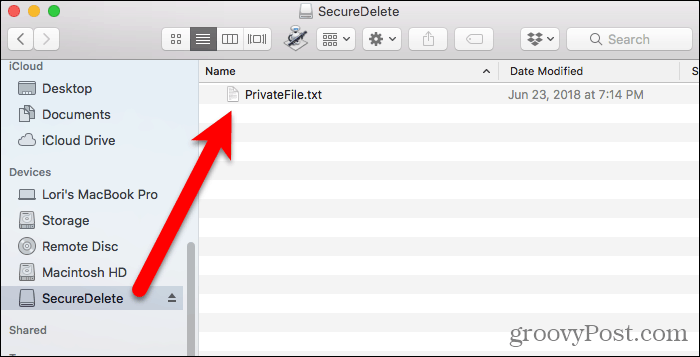 File in disk image in FInder