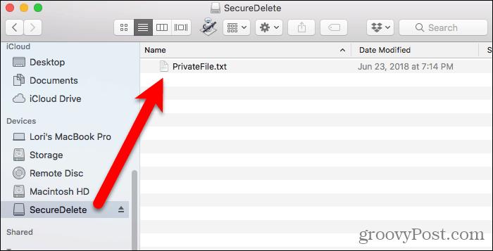 File in disk image in FInder