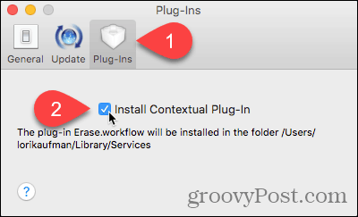 Install Contextual Plug-in