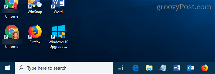 Full Search box showing on Taskbar in Windows 10