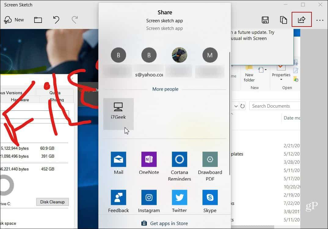 Grab and Annotate Screenshots with the New Snip & Sketch