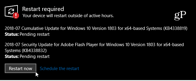 Windows 10 1803 KB4338819
