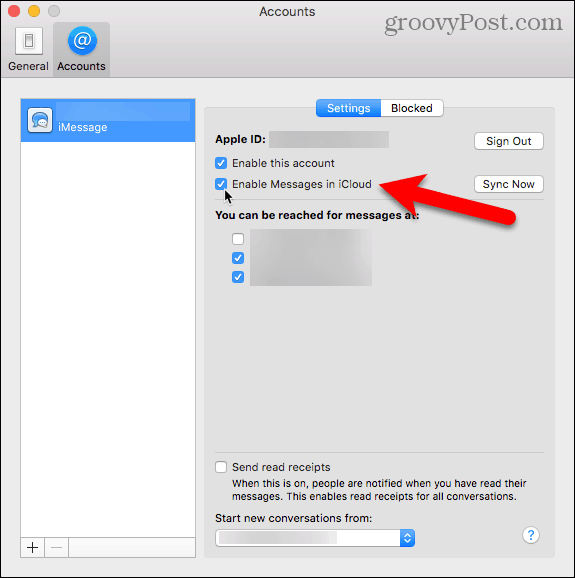 Enable Messages in iCloud on your Mac