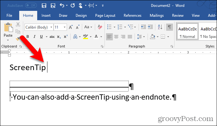 Color changed on the endnote numeral in Word
