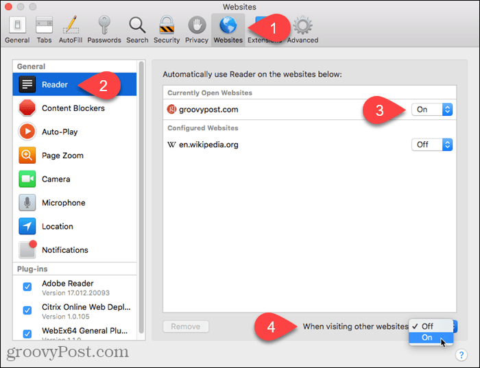 Turn on Reader View for other websites in Safari for Mac