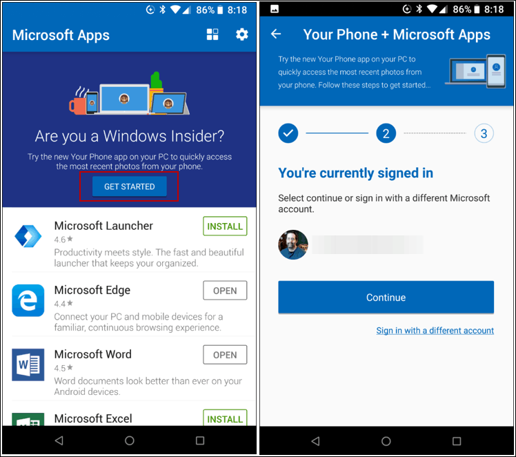 An Early Look at the New Your Phone App on Windows 10