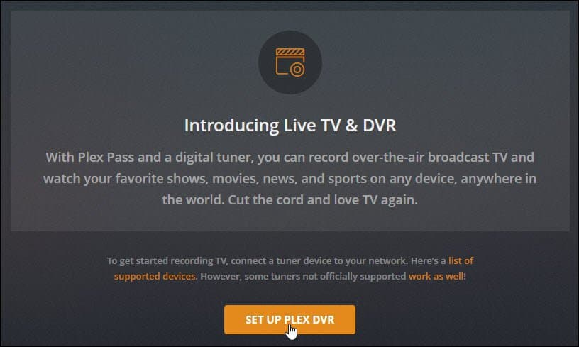 How to Record Live Over-the-Air Television with Plex DVR