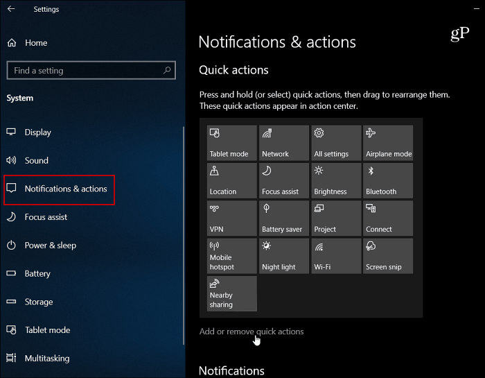 How to Remove Buttons and Clean Up Windows 10 Action Center