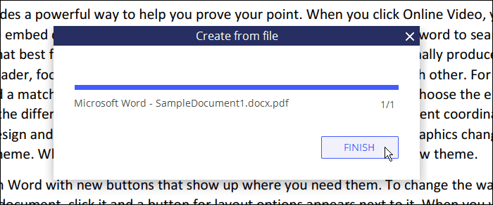 Create from file dialog box in PDFelement 6