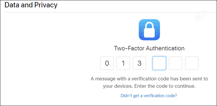 Login Apple Privacy Portal