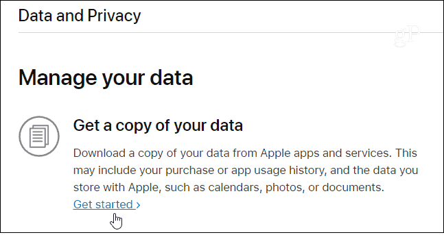 Get a copy Apple Data