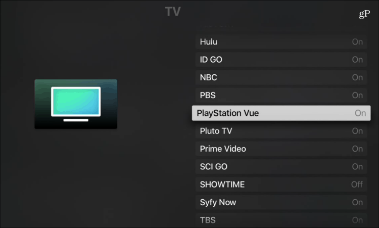 Apple TV App PlayStation Vue