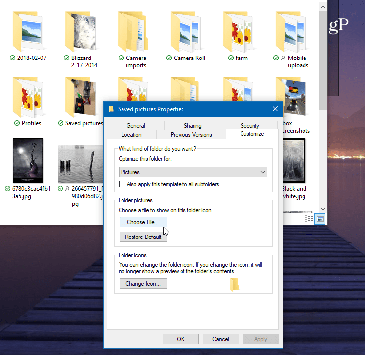 How to Change the Default Folder Picture in Windows 10 File Explorer