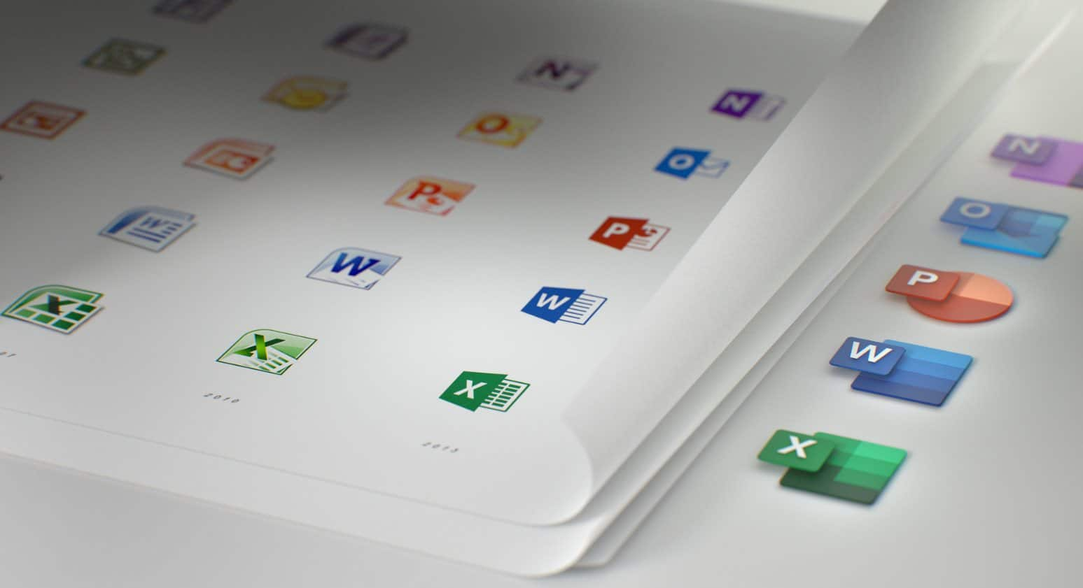 Microsoft introduced a completely new icons for Office