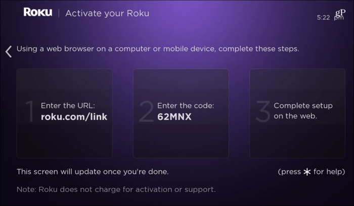 Roku Setup and Link Account