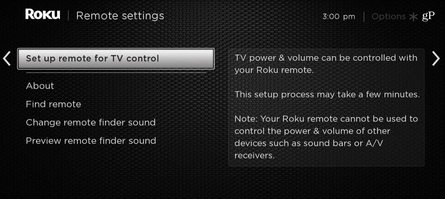 Roku Ultra Remote Settings