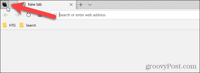 Click See all your tabs in Edge