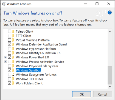 How to Setup and Use the New Windows 10 Sandbox Feature to