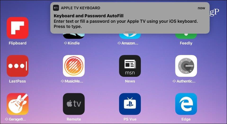 AutoFill Notification iPad