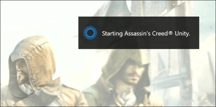 Cortana Launching Game Xbox