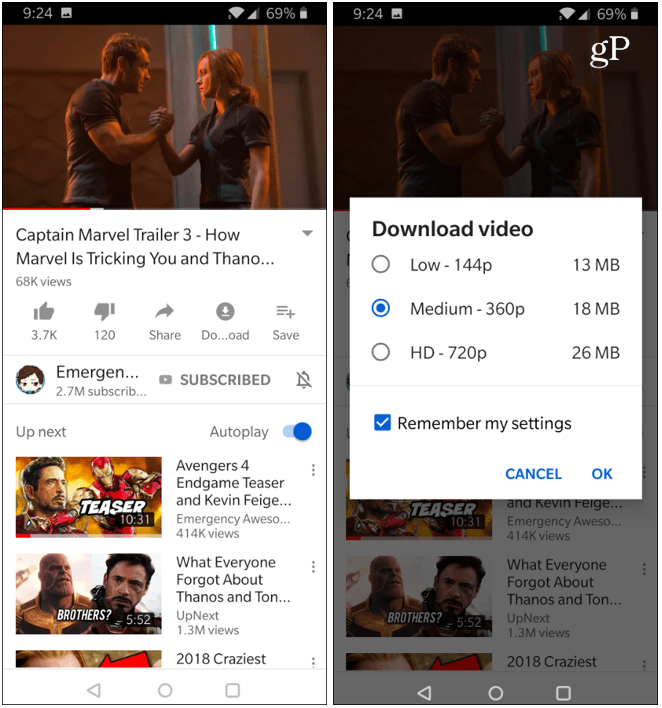 Download YouTube Videos OnePlus 6T