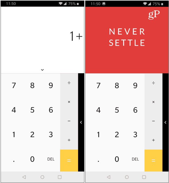 OnePlus Calculator Easter Egg