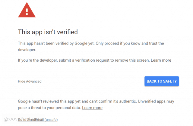 google script permission