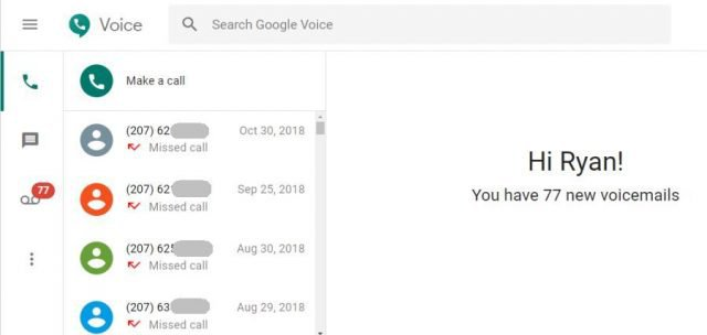 google voice calls