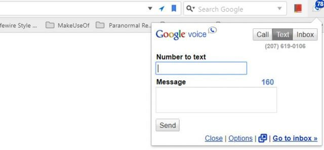 google voice chrome extension