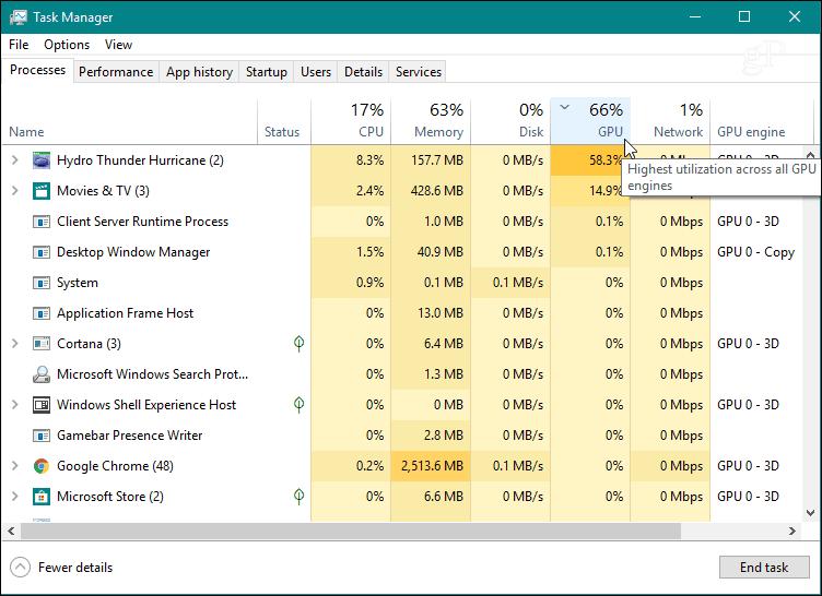 Monitor GPU Task Manager