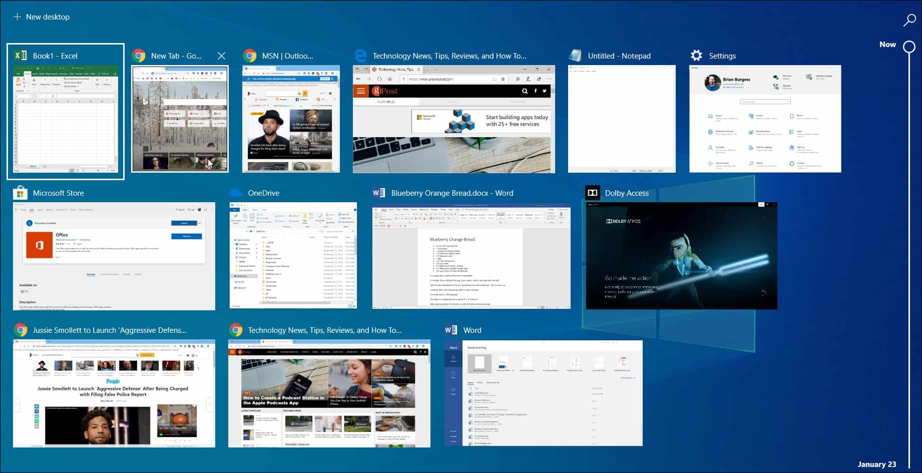Chrome Activity Windows 10 Timeline