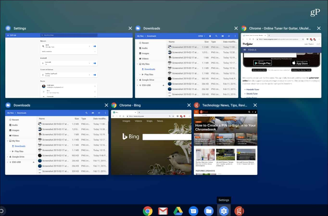 Switcher View Chromebook