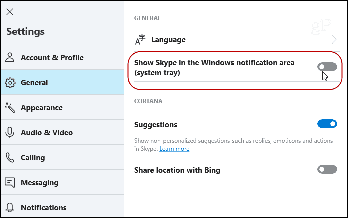cortana remove from skype